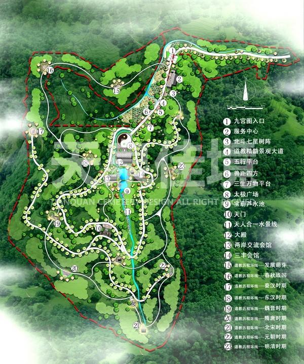 湖北武汉道教陵园设计图片