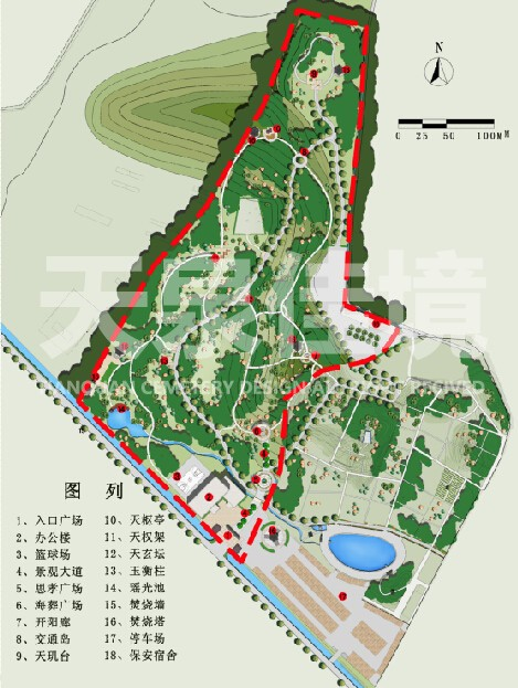 陵园设计效果图
