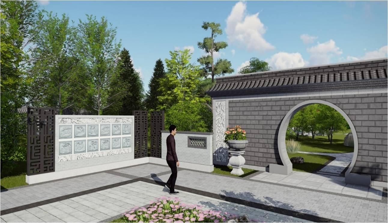 周口家族墓             周口家族墓设计在传统陵园中轴线布局的基础